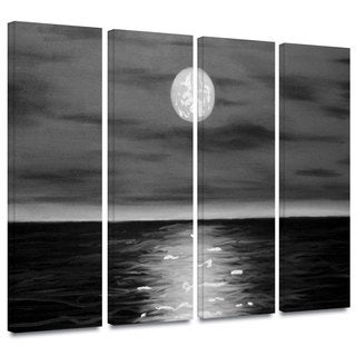 ArtWall 'Jim Morana's Moon Rising' 4-piece Gallery Wrapped Canvas Set