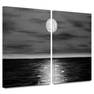 ArtWall 'Jim Morana's Moon Rising' 2-piece Gallery Wrapped Canvas Set