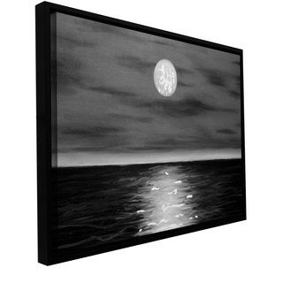 ArtWall 'Jim Morana's Moon Rising' Gallery Wrapped Floater-framed Canvas