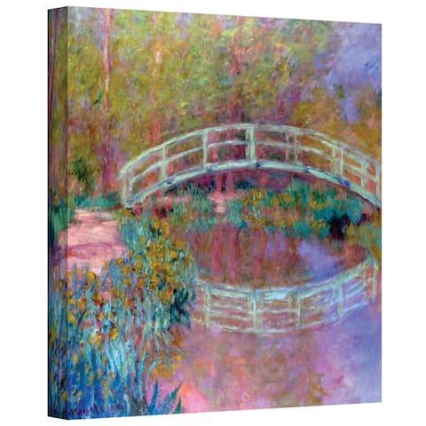 ArtWall 'Claude Monet's Japanese Bridge' Gallery Wrapped Canvas