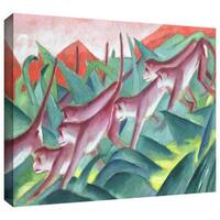 ArtWall 'Franz Marc's Sheep' Gallery Wrapped Canvas - Multi