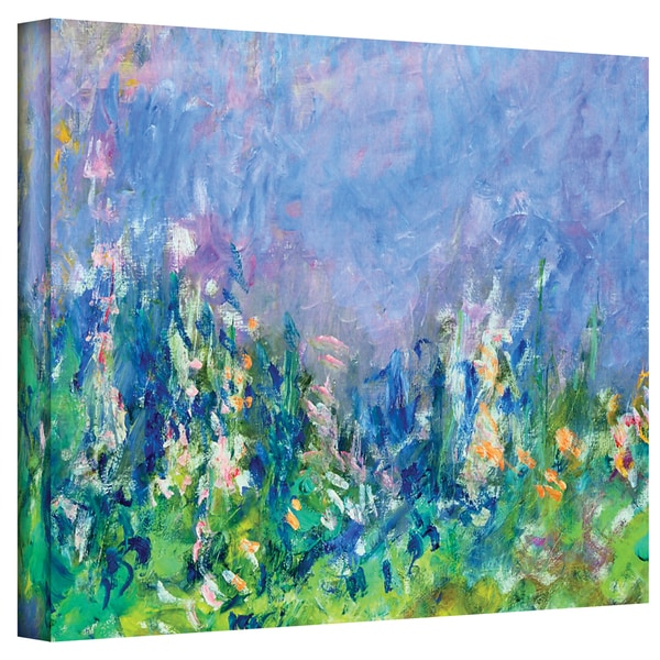 ArtWall 'Claude Monet's Lavender Fields' Gallery Wrapped Canvas