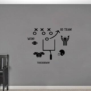 Football Small Wall Decal Set