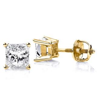 Luxurman 14k Gold 3/4 Discount Diamond Studs Earrings (H-I, SI1-SI2)
