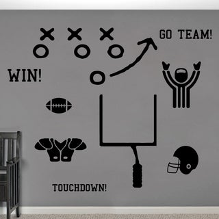 Football Large Wall Decal Set
