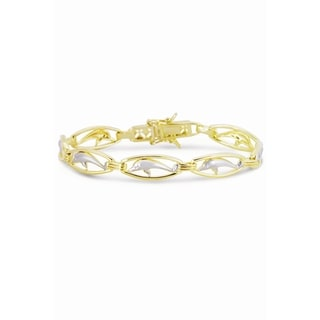 Collette Z Sterling Silver Dolphin Circle Link Bracelet
