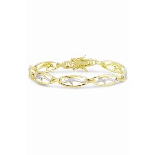 Collette Z Sterling Silver Dolphin Circle Link Bracelet