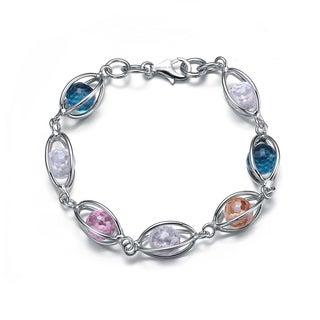 Collette Z Sterling Silver Multi Color Pebble Bracelet