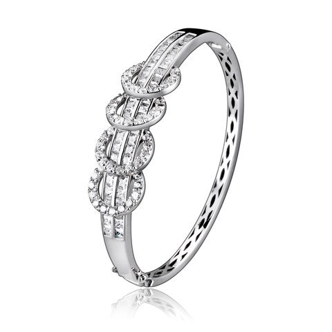 Collette Z Sterling Silver Four Link Bangle - White