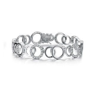 Collette Z Sterling Silver Cubic Zirconia Multi Circle Bracelet - White