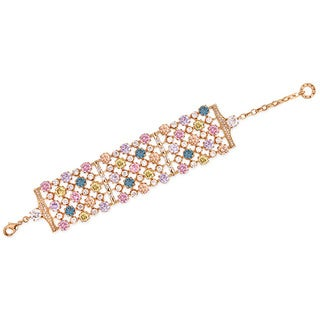 Collette Z Rose Gold Multicolor Cubic Zirconia Band Bracelet