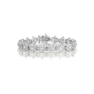 Collette Z Sterling Silver Cubic Zirconia Bracelet With Clasp Closure