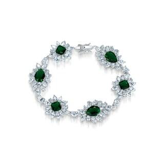 Collette Z Sterling Silver Cubic Zirconia Bracelet With Flower Motif