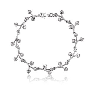 Collette Z Sterling Silver Cubic Zirconia Bracelet With Dangling Pieces