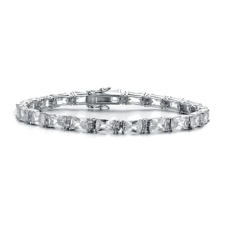 Collette Z Sterling Silver Cubic Zirconia Solitaire Bracelet