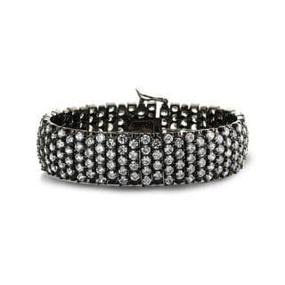 Collette Z Sterling Silver Cubic Zirconia Bangle Bracelet With Studs