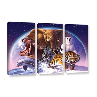 ArtWall 'Jerry Lofaro's Wild World' 3-piece Gallery Wrapped Canvas Set