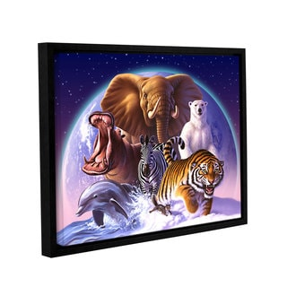 ArtWall 'Jerry Lofaro's Wild World' Gallery Wrapped Floater-framed Canvas