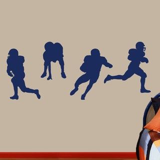 Football Players Large Wall Decals