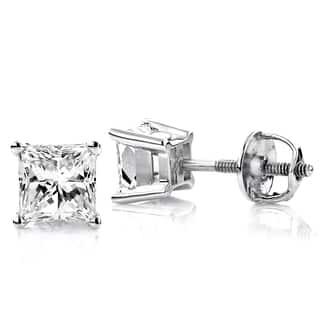 Luxurman 14k Gold 1/4ct TDW Princess Diamond Stud Earrings https://ak1.ostkcdn.com/images/products/11373053/P18342638.jpg?impolicy=medium