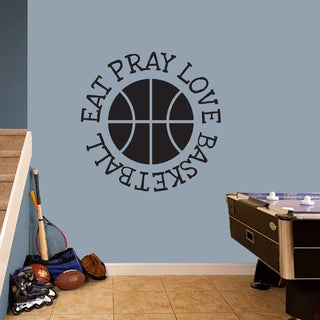 Eat Pray Love Basketball' 36 x 36-inch Sports Wall Decal