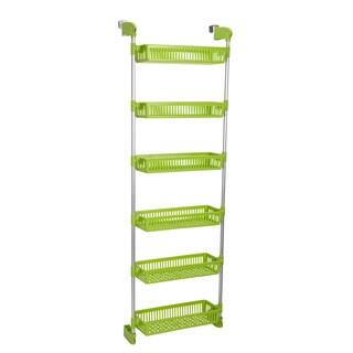 Household Essentials Metal/Plastic 6-basket Over-the-door Organizer (Option: Green)