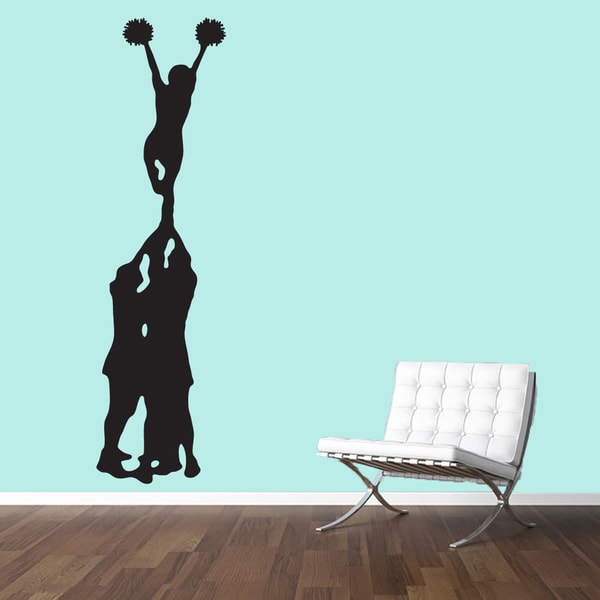Cheerleader Mount Large Wall Decal Free Shipping Today - How to put up a large wall sticker