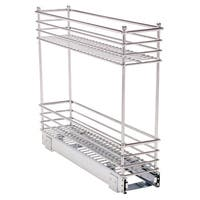 Household Essentials Glidez Narrow 5-inch Sliding Organizer, Chrome