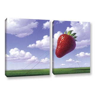 ArtWall 'Jerry Lofaro's Strawberry Field' 2-piece Gallery Wrapped Canvas Set