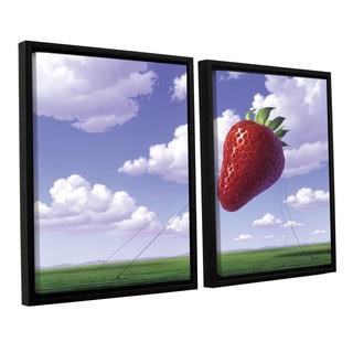 ArtWall 'Jerry Lofaro's Strawberry Field' 2-piece Floater Framed Canvas Set