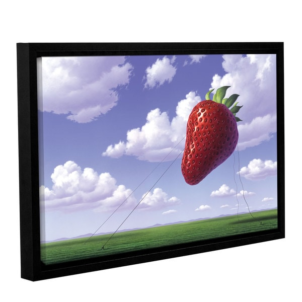ArtWall 'Jerry Lofaro's Strawberry Field' Gallery Wrapped Floater-framed Canvas - Multi