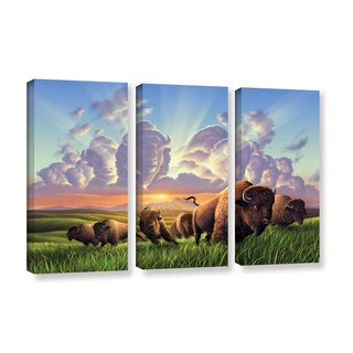 ArtWall 'Jerry Lofaro's Stamped' 3-piece Gallery Wrapped Canvas Set