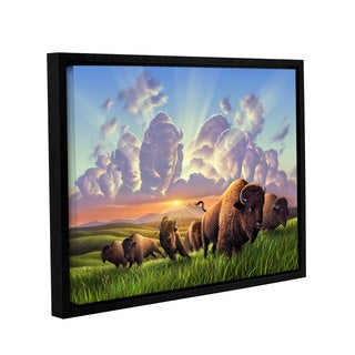 ArtWall 'Jerry Lofaro's Stamped' Gallery Wrapped Floater-framed Canvas