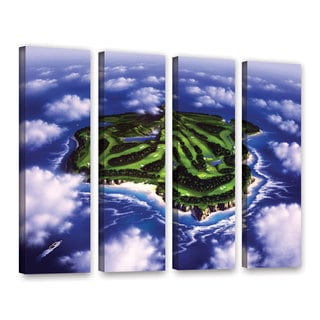 ArtWall 'Jerry Lofaro's Paradise Island' 4-piece Gallery Wrapped Canvas Set