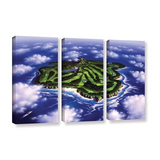 ArtWall 'Jerry Lofaro's Paradise Island' 3-piece Gallery Wrapped Canvas Set