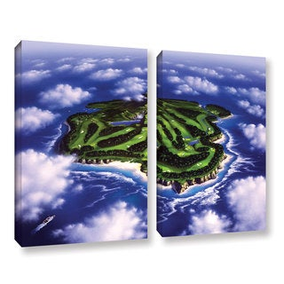 ArtWall 'Jerry Lofaro's Paradise Island' 2-piece Gallery Wrapped Canvas Set