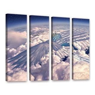 ArtWall 'Jerry Lofaro's Onward' 4-piece Gallery Wrapped Canvas Set