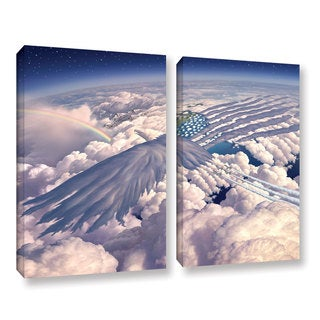 ArtWall 'Jerry Lofaro's Onward' 2-piece Gallery Wrapped Canvas Set