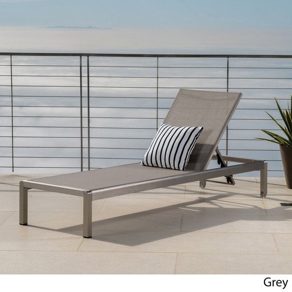 Cape Coral Outdoor Aluminum Adjustable Chaise Lounge By