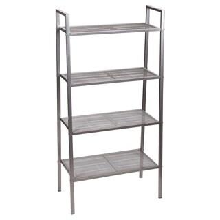 Household Essentials Free-Standing 4-Tier Storage Rack, Gunmetal