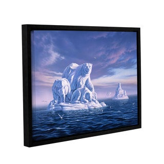 ArtWall 'Jerry Lofaro's Iceberg' Gallery Wrapped Floater-framed Canvas