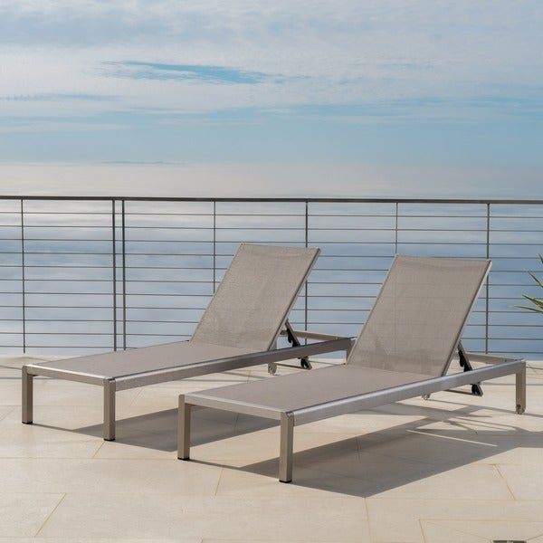 Cape Coral Outdoor Aluminum Adjustable Chaise Lounge Set