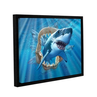 ArtWall 'Jerry Lofaro's Great White Shark' Gallery Wrapped Floater-framed Canvas