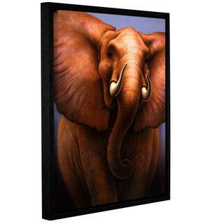 ArtWall 'Jerry Lofaro's Elephant' Gallery Wrapped Floater-framed Canvas - Multi