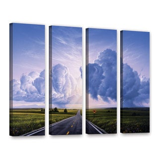 ArtWall 'Jerry Lofaro's Buffalo Crossing' 4-piece Gallery Wrapped Canvas Set