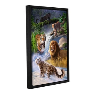 ArtWall 'Jerry Lofaro's Big Cats' Gallery Wrapped Floater-framed Canvas
