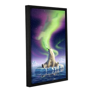 ArtWall 'Jerry Lofaro's Artic Kiss' Gallery Wrapped Floater-framed Canvas