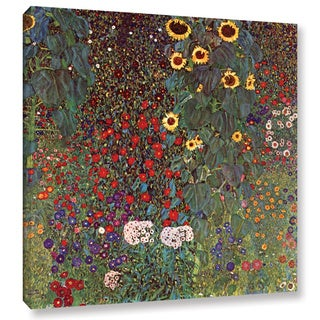 ArtWall 'Gustav Klimt's Sunflower' Gallery Wrapped Canvas