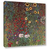 ArtWall 'Gustav Klimt's Sunflower' Gallery Wrapped Canvas