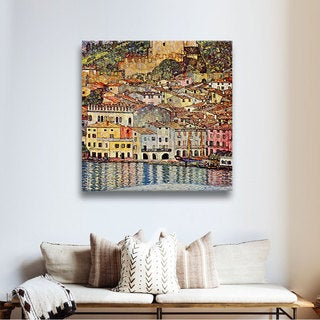 ArtWall 'Gustav Klimt's Malcesina at Gardasee' Gallery Wrapped Canvas